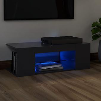 """vidaXL ארון טלוויזיה עם נורות LED אפור 90x39x30 ס""""מ"""
