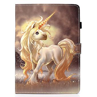 Case For Samsung Galaxy Tab S6 Lite Cover With Auto Sleep/wake Pattern Magnetic - Unicorn