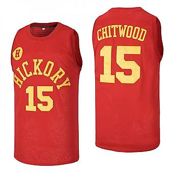 Mens Basketball Jersey #15 Jimmy Chitwood Hickory Hoosiers High School Jerseys Moive Space Sports Shirts 90s Hiphop Party Clothing Stitched Size S-xxl