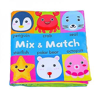 0-24 Months Baby Soft Book Educational Toys Cognitive Color Objects Early Education-c