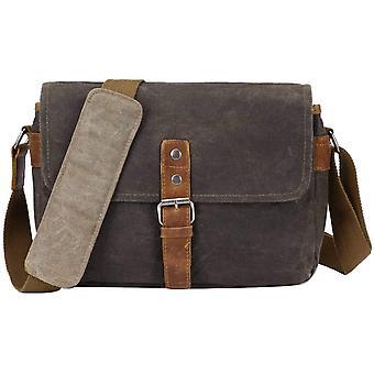 Vintage Kameratasche Fototasche aus Wasserdicht Canvas Camera Bag Umhängetasche für SLR