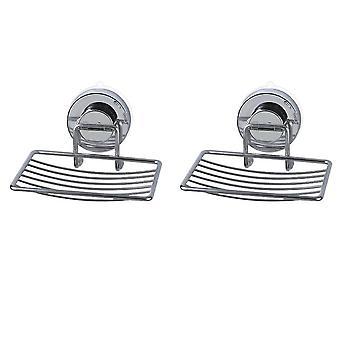 2 pcs Soap Dish Stainless Steel Bar Soap Holder for Shower Bathroom