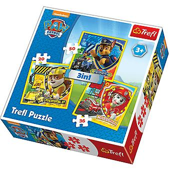 3-in-1 Puzzle Paw Patrol