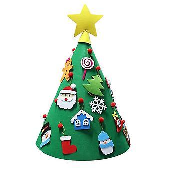70cm Length DIY Felt Christmas Tree Set with Ornaments for Kids Xmas Decorations Xmas Gifts