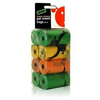 Lola Bean Pet Waste Bag Refills - Parfum de citron - 160 Sacs