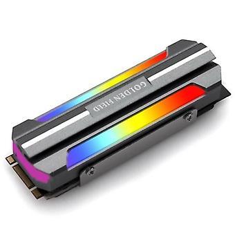 ARGB Internal Hard Disk Drive SSD Aluminum Cooler Fan Heatsink For M.2 2280 SSD