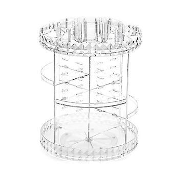 קופסת איפור מסתובבת 360 מעלות קופסאות קוסמטיקה שקופות