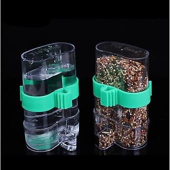 2 Pieces Of Waterer And Feeder For Pet Parrot Bird