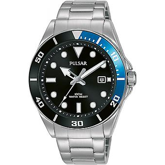 Reloj pulsar Silver stainless Steel PG8293X1 para hombre