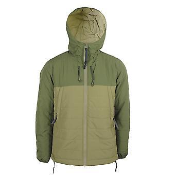 Pretty green men's khaki tilby quilted colour block jacket