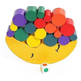 Interlocking blocks moon equilibrium game wooden stacking blocks balancing game sorting toy for kids nsv775|blocks
