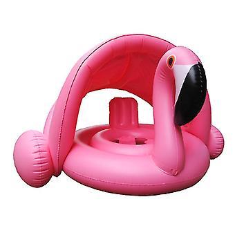 Rosa Flamingo und weißer Schwan Baby Pool Schwimmer mit verstellbarem Baldachin Infant Aufblasbare Schwan Schwimmen