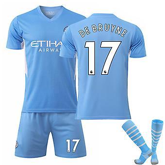 De Bruyne #17 Jersey Home 2021-2022 Nouvelle saison Hommes Manchester City F.c. T-shirts de football Ensemble de maillots
