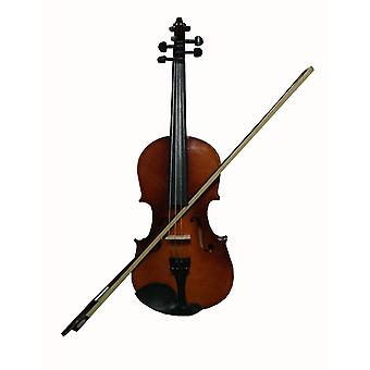 Student Acoustic Violin Full 4/4 Maple Spruce With Case Bow Rosin Wood Color