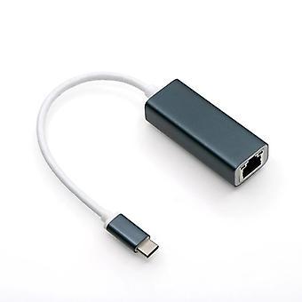 Type-c Naar Gigabit Netwerkkaart Usb-c Naar Rj45 Network Port Extender