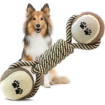 Psí hračka žvýkat hračky zuby čištění tenisové bavlněné lano činka tvarovaná pet hračka