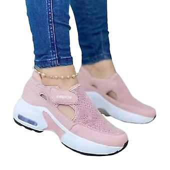 Women's Orthopedic Air Cushioned Sole Flying Woven Sneakers For Couple Walking