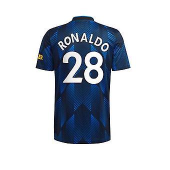 Мужская #28 C. Роналду Футбол Джерси Новый сезон Мнчестер 2021-2022 Юнайтед Футбол Джерси Футболки Размер S-xxl
