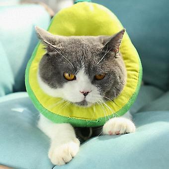 Pet Cat Elizabeth Recovery Collar, Avokádo anti-lízanie golier veľkosť