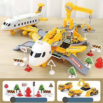 Déformation multifonctionnelle Jouet d'avion pour enfants Jaune