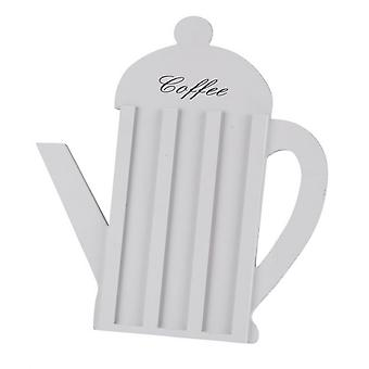White Wooden Coffee Pod Capsule holder Kettle Shape Home Kitchen Work