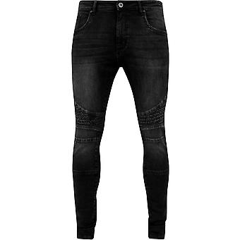 Urban Classics Black Washed Jeans Slim Fit Biker