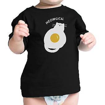 القط ميووجيكال بيبي قميص القطن الأسود مضحك الرسوم المحملة الرضع هدية