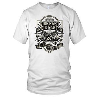 Rouler vite Die dernière - moto Biker Kids T Shirt