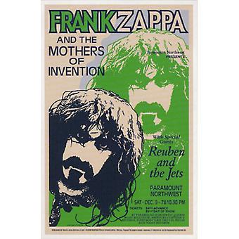 フランク ・ ザッパ パラマウント北西 1972 ポスター印刷 (15 × 23)