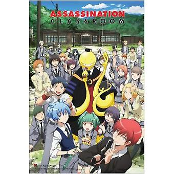 ASSASINATION CLASSROOM Group Outside Poster Poster Print