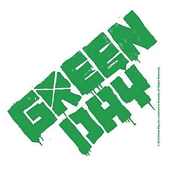 Green Day Coaster band Logo new Official Cork 9.5 x 9.5cm single drink