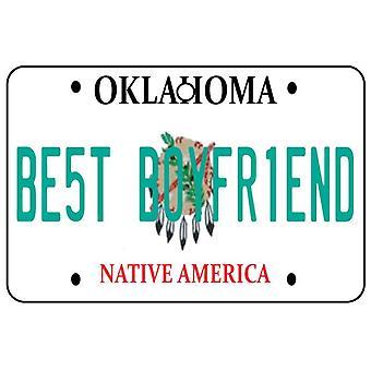 Oklahoma - meilleur copain plaque d'immatriculation voiture assainisseur d'Air
