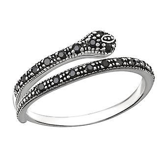 Snake - 925 Sterling Silver Jewelled ringar - W31376x