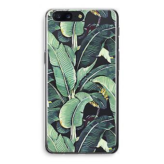 OnePlus 5 Transparant Case (Soft) - Banana leaves