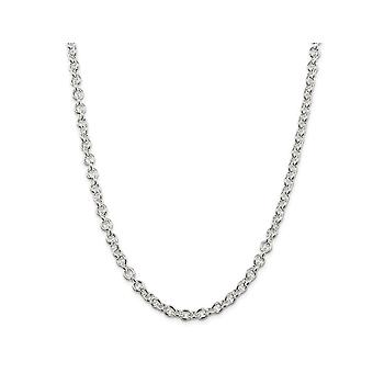 Cable Chain Necklace in Sterling Silver 20 Inches (6.10mm)