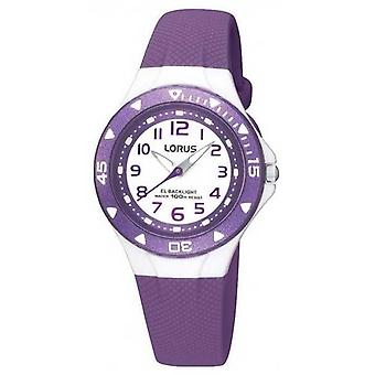 Roxo de borracha cinta R2337DX9 Watch Lorus infantil