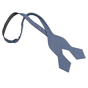 Mørk blå Hopsack linned pegede selvstændig slips Butterfly