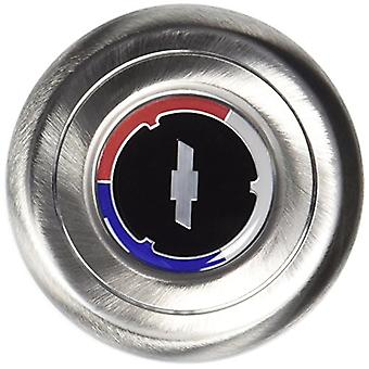 Grant 5643 Stainless Steel Horn Button (Chevy Bow Tie, Red/White/Blue)