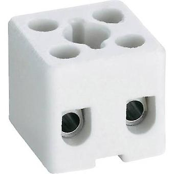 Adels-Contact 41 22 02 Ceramic connector flexible: -2.5 mm² rigid: -2.5 mm² Number of pins: 2 1 pc(s) White