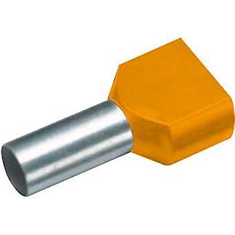460108D Vogt Verbindungstechnik doble virola 2 x 0.50 mm² x 8 mm parcialmente aislado naranja 100 PC
