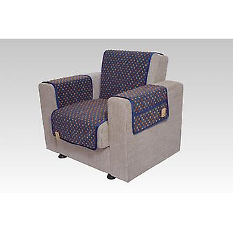 Armrests - and armchair saver set with 2 pockets MALI color: blue-colored wool