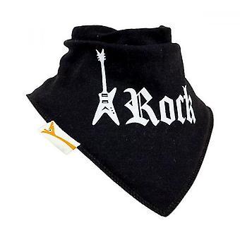 Bavoir bandana rock noir & blanc