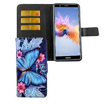Matkapuhelin tapauksessa pussi mobile Huawei honor 7 X sininen perhonen