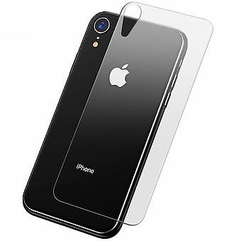 Apple iPhone XR tank bescherming glas terug terug terug glas echte glas transparant