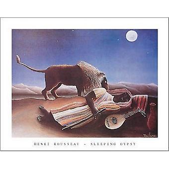 """النوم الغجر c1897 """"طباعة ملصق"""" بهنري روسو (28 × 22)"""