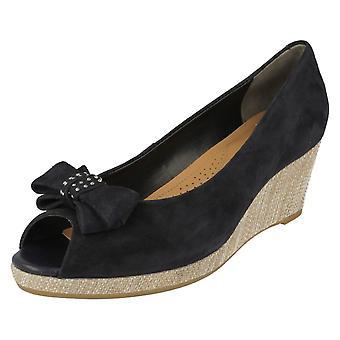 Senhoras Van Dal Peep Toe sapatos de cunha unidade
