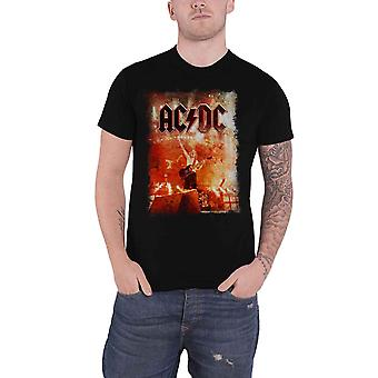 AC/DC T Shirt Live Canons Band Logo new Official Mens Black