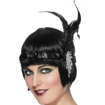 Smiffy's Black Satin Charleston Headband