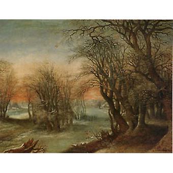 المناظر الطبيعية في فصل الشتاء، ينكر فان ألسلوت، 50x40cm