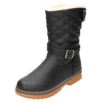 JWF Flat Warm Lined Mid Calf Boots
